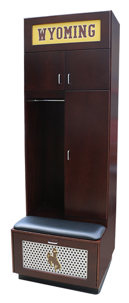 PEDESTAL SIDE WOOD LOCKER