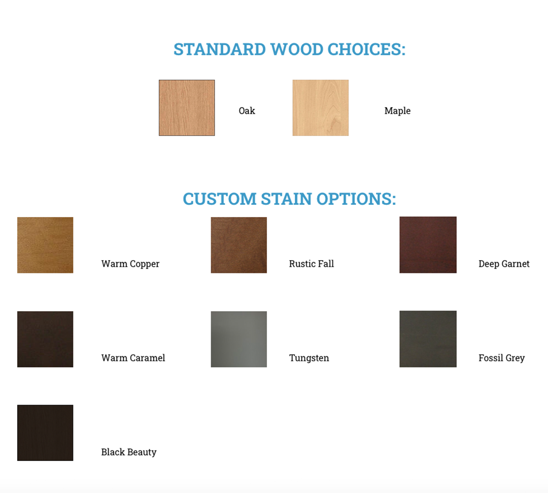 Custon Stain Options
