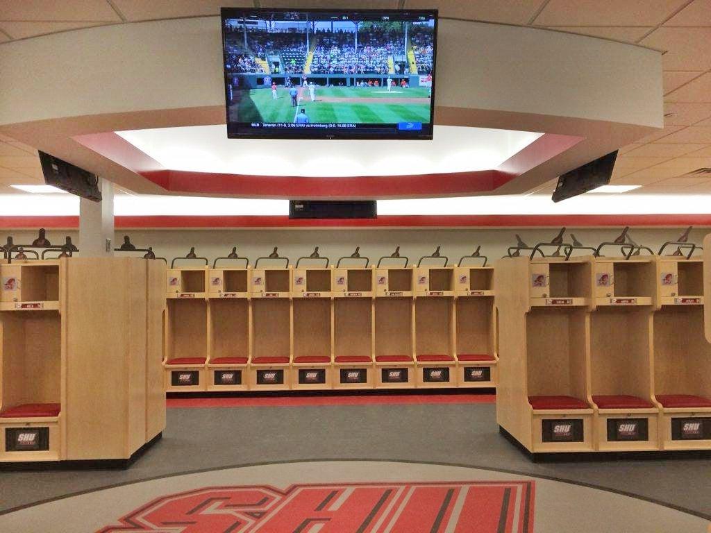 SHU football locker room.jpg